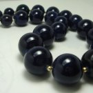 Vintage Preowned Navy Graduating Lucite Plastic Choker Necklace 70's