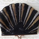 Vintage Glass Beaded Scallop Evening Purse KAIHO