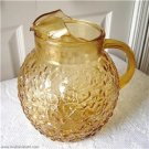 Vintage Anchor Hocking Lido Yellow Pitcher 60'S
