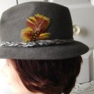Vintage Grey Genuine Furfelt Men Hat 6 ¾  54 cm  21½ inches Small  Robert  Hall