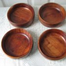 Vintage Wood 4 Individual Salad Bowl Baribocraft  60's Made in Canada