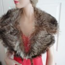 Vintage Gorgeous Raccoon Fur Collar Preowned