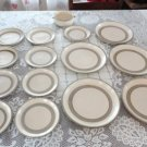 Vintage Laurentian Art Pottery 15 Pcs Lot Plates Beige/Brown