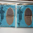Vintage 2 Pairs Nylon Stockings Seamless 9 ½, 32  Marie France NOS