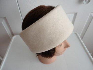 "Vintage Off White Women Hat/Headband Medium 22 1/4"" Boutique Kates Canada"