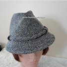 Vintage Grey Harris Tweed  Men Hat  6¾ Small 21½ inches 55 cm Biltmore