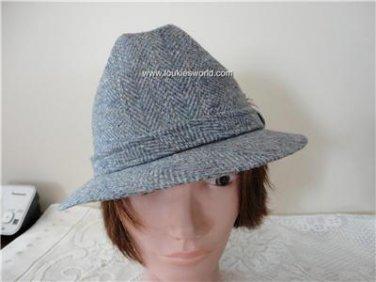 Vintage  Grey Tweed  Men Hat  22½ inches 7¼ 58 cm Biltmore Canada