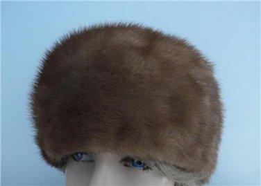 Vintage Medium  Brown Mink Women Hat XS 21 inches  Made Canada  60's