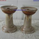 Vintage Laurentian Tundra Pottery Pillar Candle Holders