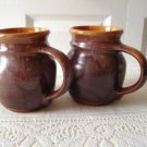 Vintage 2 Brown Mugs  Beauceware #600/22 Antique G. Trudeau