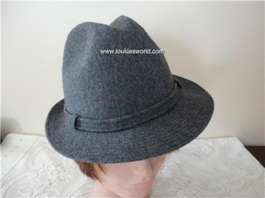 Vintage Grey  Wool Men Hat Stetson  6¾ 54cm 21 1/8 inches