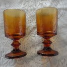 Vintage Amber 2 Footed Glasses