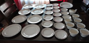 Vintage Gold & White China Lot 33 Pieces General Home Products USA