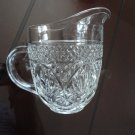 Vintage Pressed Glass Creamer Pineapple Design