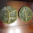 Mottled Green Fondue/Sushi 2 Plates Beauceware  #2382