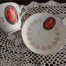 Royal Darwood China Saucer/Cup Upper Canada Village Souvenir