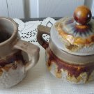 Tundra Lava Laurentian Pottery Covered Sugar Dish/Creamer