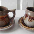 Vintage Laurentian Pottery 2 Cups/Saucers TUNDRA