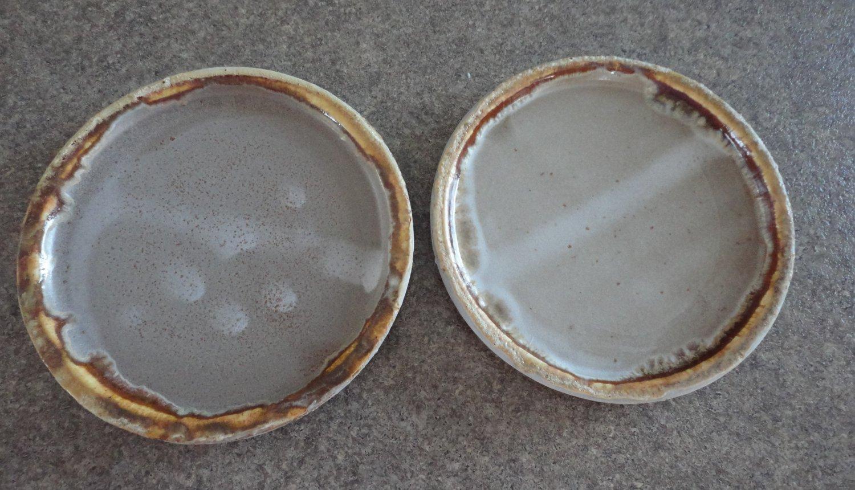 Vintage Laurentian Pottery Tundra 2 Bread Plates