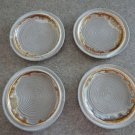Laurentian Tundra Lava Set of 4 Bread Plates 70s