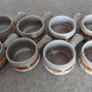 Tundra Lava 8 Onion Soup Bowls 70s