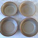 Vintage Beige /Brown 4 Soup Bowls Beauceware #2024