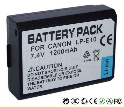 Canon LP-E10 DSLR Battery (1200mAh) for EOS 1100D, KISS X50, REBEL T3