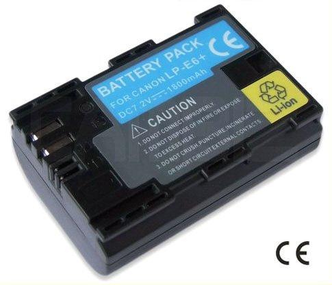 Canon LP-E6 DSLR Battery (1800mAh) for EOS 5D Mark II, 7D, 60D