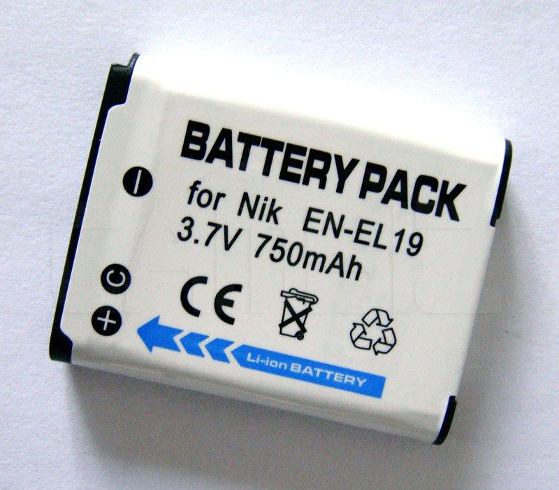 Nikon EN-EL19 Battery (750mAh) for COOLPIX S2500, COOLPIX S3100, COOLPIX S4100