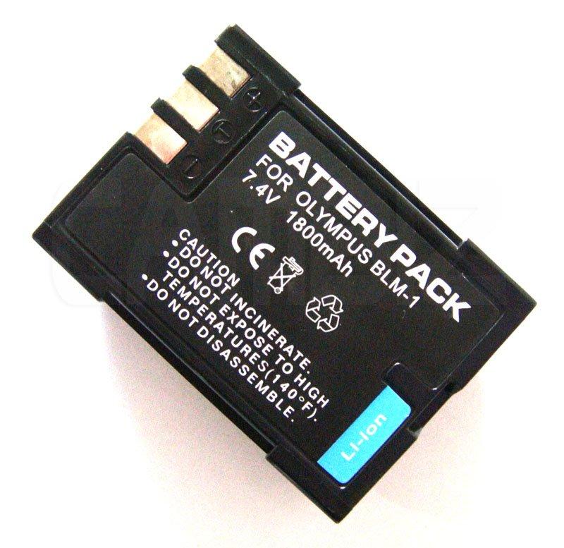 Olympus BLM-1 DSLR Battery (1800mAh) for E1, E3, E30, E300, E330, E500, E510, E-520