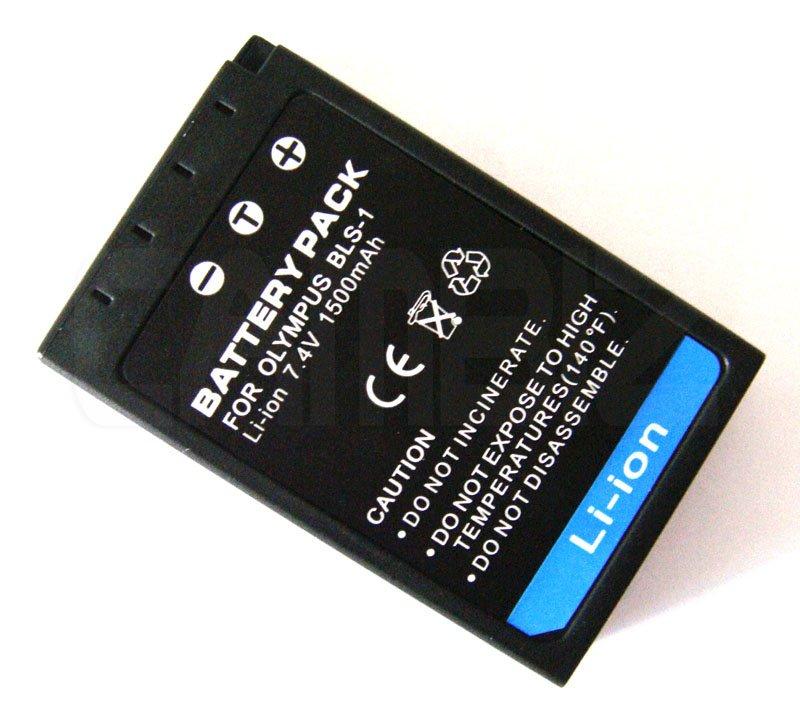 Olympus BLS-1 DSLR Battery (1500mAh) for E-620,E-450,E-420,E-410,E-P3,E-P2,E-P1,E-PL3,E-PL1,E-PM3