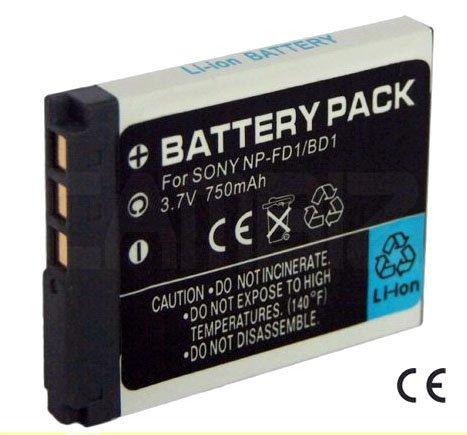 Sony NP-BD1/FD1 Battery (750mAh) for Sony DSC-TX1, DSC-T77, DSC-T900, DSC-T90, DSC-T500, DSC-T700