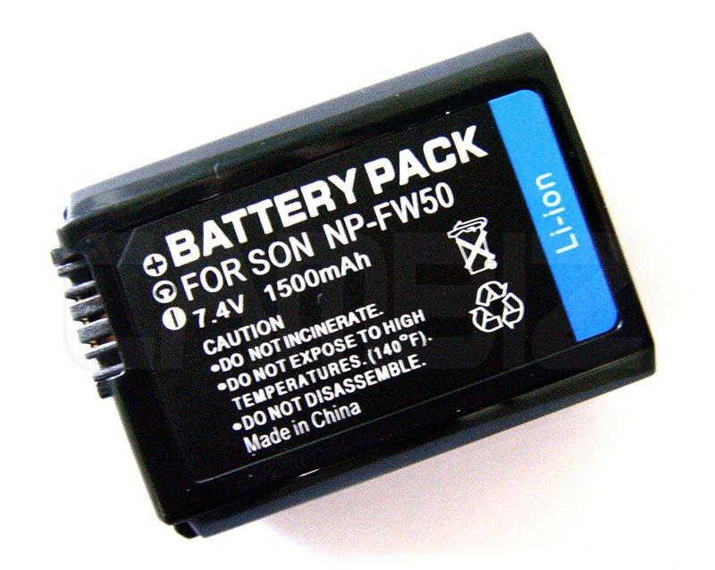 Sony NP-FW50 DSLR Battery (1500mAh) for NEX Series