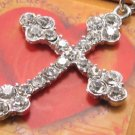SN071 Crystal Cross Silver Pendant Necklace Best Gift Idea