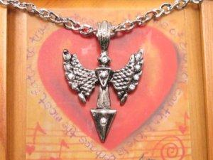 SN083  Crystal Bat Cross Silver Pendant Necklace Best Gift Idea