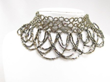 SN088 Elegant Victorian Style Beads Necklace Best Gift Idea