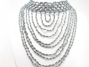 SN090 Elegant Cocktail Victorian Style Beads Necklace Best Gift Idea