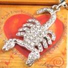 "SN097 Elegant 26"" Long Crystal Scorpion Silver Pendant Necklace Best Gift Idea"