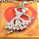 "SN099 Elegant 26"" Long Crystal Ballet Dancer Silver Pendant Necklace Best Gift Idea"