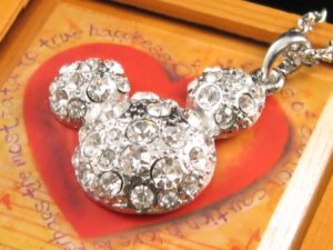 SN118 Elegant Crystal Silver Pendant Necklace Best Gift Idea