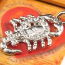 SN119 Elegant  Crystal Scorpion Silver Pendant Necklace Best Gift Idea