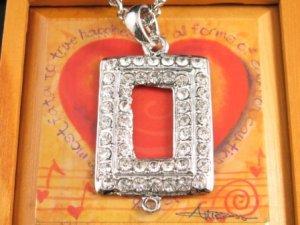 SN125 Elegant Crystal Silver Pendant Necklace Best Gift Idea