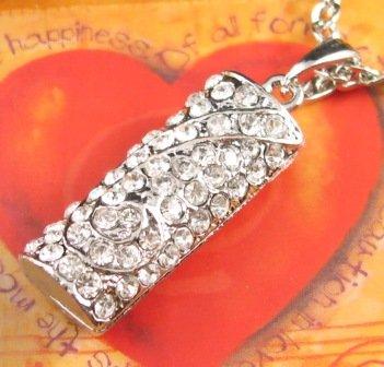 SN139 Elegant  Crystal Silver Pendant Necklace Best Gift Idea