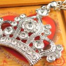 SN337 Crystal King's Crown Silver Pendant Necklace Best Gift Idea