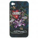 (Skull Image) Plastic Cover/ Skin Case for iPhone 4G
