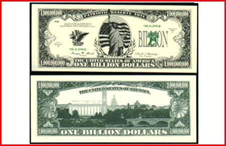 AR104 100 LIBERTY BILLION DOLLAR BILL!
