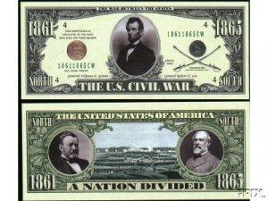 NM021 100 US CIVIL WAR BILL
