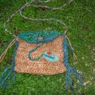 little gypsy princess - rustic handknit sparkle bag