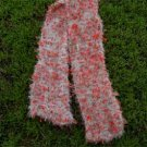 soft snowy bunny - hand knit scarf from the forest