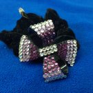 Crystal Ribbon Ponytail Hair Band A010 Purple Haarschmuck